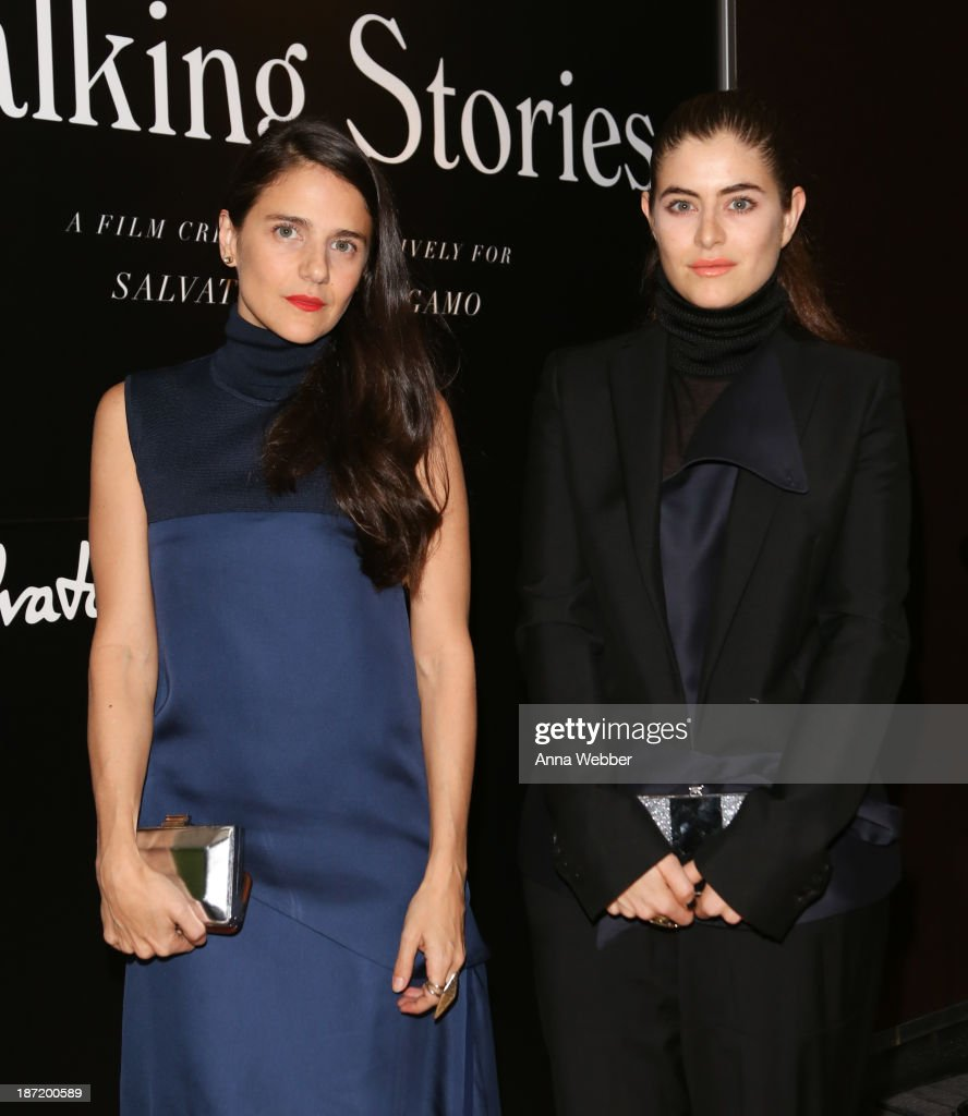 Jewelry Designers Phoebe and Annette Stephens (wearing Ferragamo Fall/Winter Collection) attend Ferragamo And Stefano Tonchi Present A VIP Screening Of Premier Film Walking Stories on November 6, 2013 in New York City.