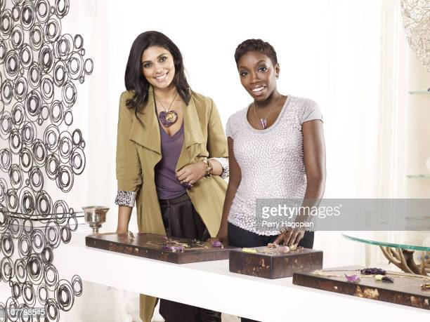 Jewelry designers Rachel Roy and Estelle pose at a portrait session for In Style on February 1 2010 in New York City PUBLISHED IMAGE