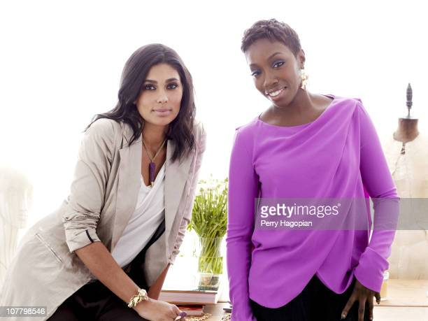 Jewelry designers Rachel Roy and Estelle pose at a portrait session for In Style on February 1 2010 in New York City