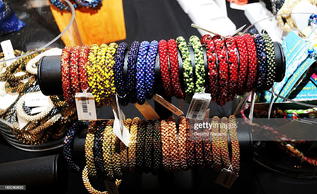 Jewelry displayed at the DKNY & Same Sky Host An Ethical Shopping Event To Celebrate International Women's Day at DKNY Store on March 6, 2013 in New York City.