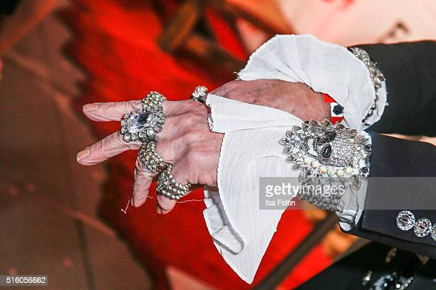 Jewelry of Bert Wollersheim at the Premiere Of 'Exitus' FreefallTowers At Berlin Dungeon on March 16 2016 in Berlin Germany