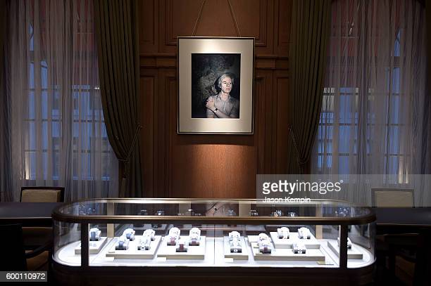 Jewelry on display at the Cartier Fifth Avenue Grand Reopening Event at the Cartier Mansion on September 7 2016 in New York City
