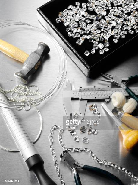 Jewels and a Jewelers Work Tools