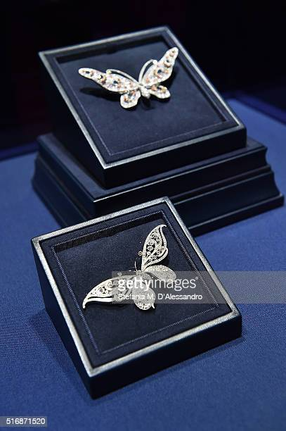 Jewels are displayed at Tiffany Co New Store Opening Gala at La Fenice Theater on March 21 2016 in Venice Italy