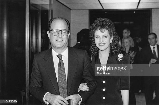 Jewish American businessman Ron Perelman and his wife newscaster Claudia Cohen attend a part at the Four Seasons Hotel in New York City to benefit...