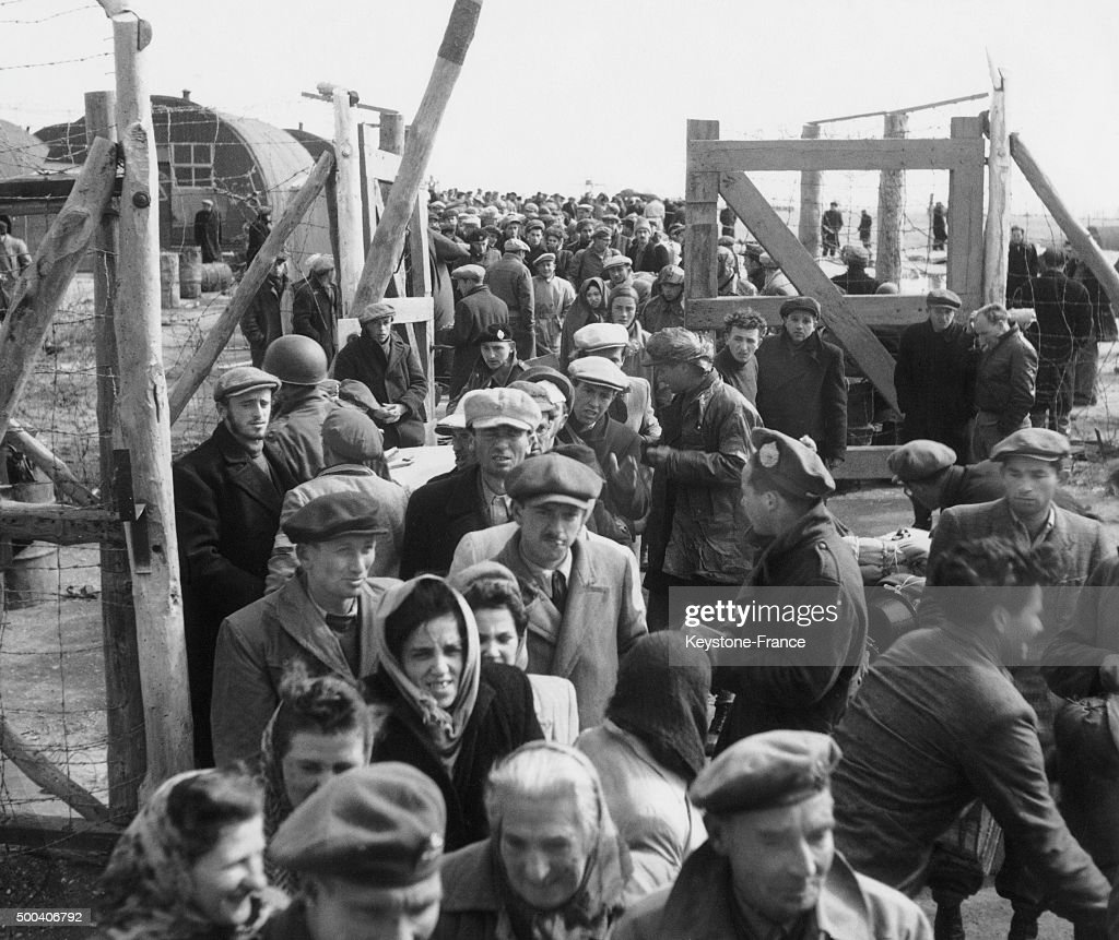 Jewish crowd which went mainly from Eastern Europe and the United States is arriving in a transit camp in Cyprus where they hope to find a boat that...