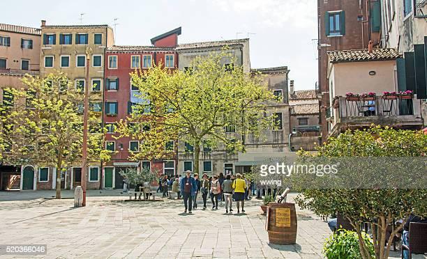 Jüdische Ghetto in Venedig in den Frühling