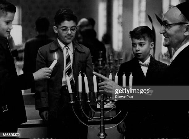 Jewish Holidays EightDay Jewish Festival of the Lights Starts Saturday Eve Rabbi Chaim Davidovich director of education at the National Jewish Home...