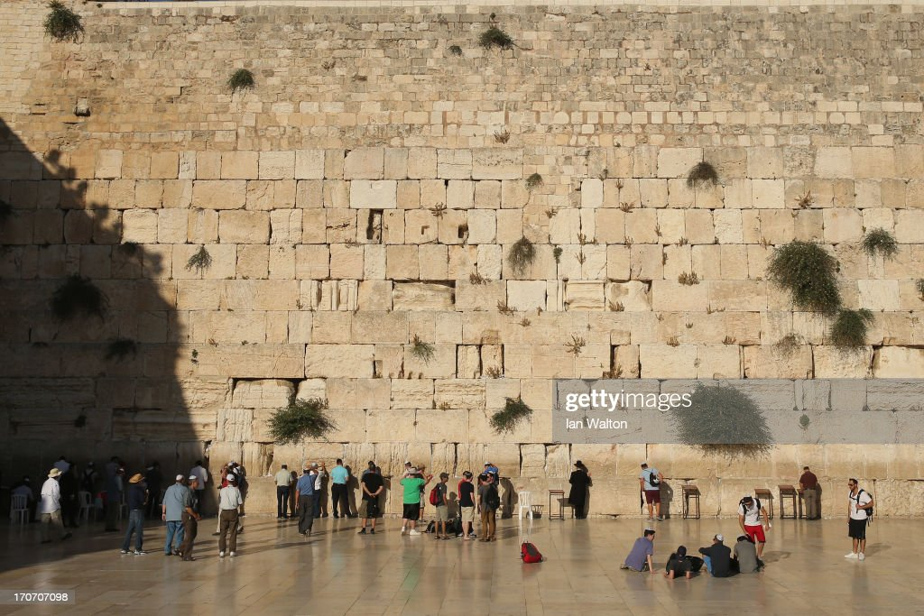 Jewish men pray at the Wailing Wall on June 16, 2013 in Jerusalem, Israel. Jerusalem, the capital of Israel and a city sacred to three major world religions, lies on the West Bank, a territory which has been occupied by Israel since 1967.