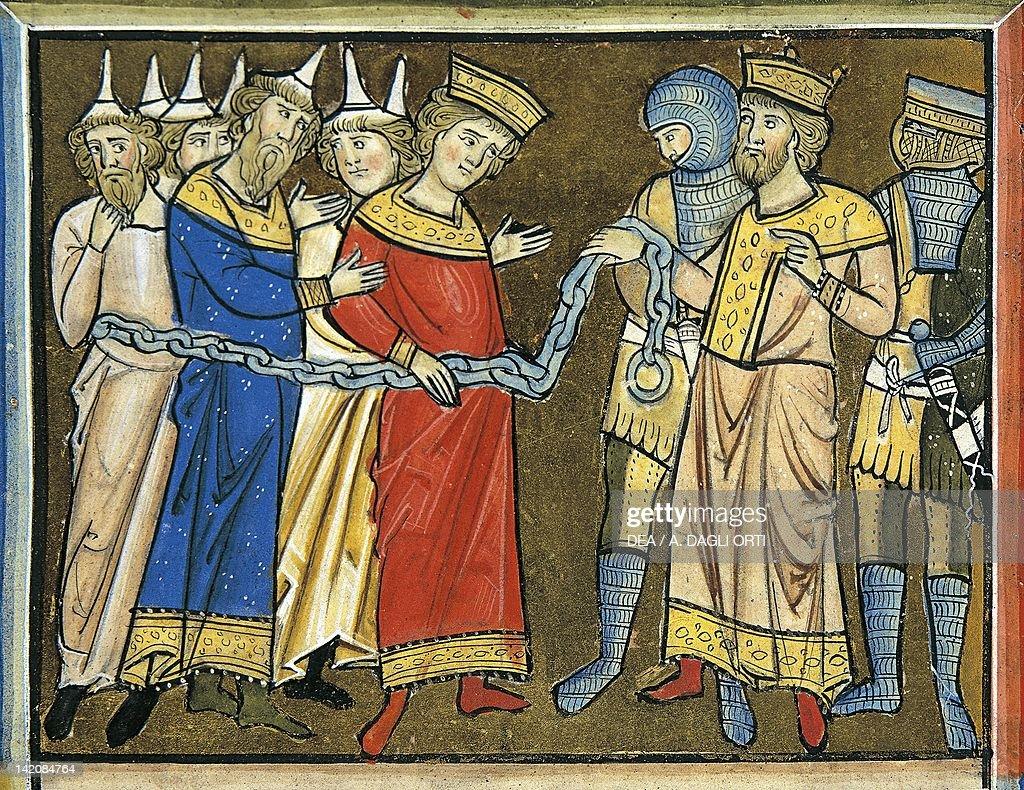 Jewish people in chains before King Nebuchadnezzar ...