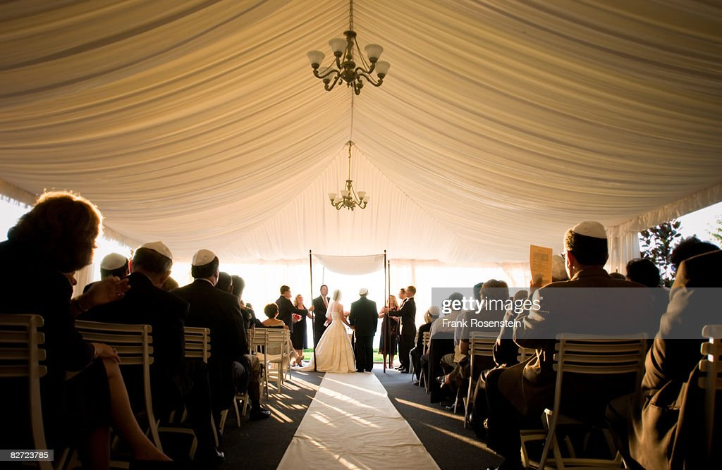 Jewish wedding ceremony : Stock Photo