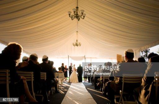 Jewish wedding ceremony : ストックフォト