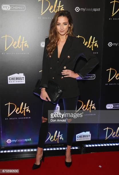 Jezebel poses at the launch of Delta by Delta Goodrem on April 20 2017 in Sydney Australia