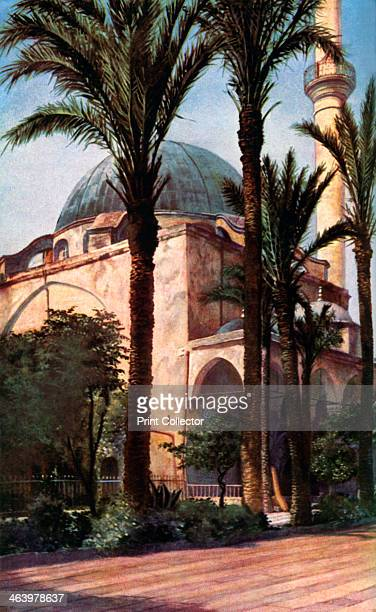 Jezzar Pasha mosque Acre Palestine c1930s The mosque was built by Ahmed alJezzar Ottoman governor of Acre and Galilee in 1781 A print from Countries...