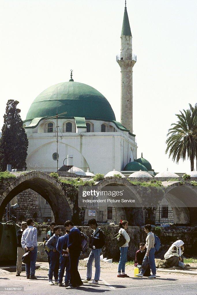 Jezzar Pasha Mosque or Ahmed elJazzar Mosque in Akko Israel