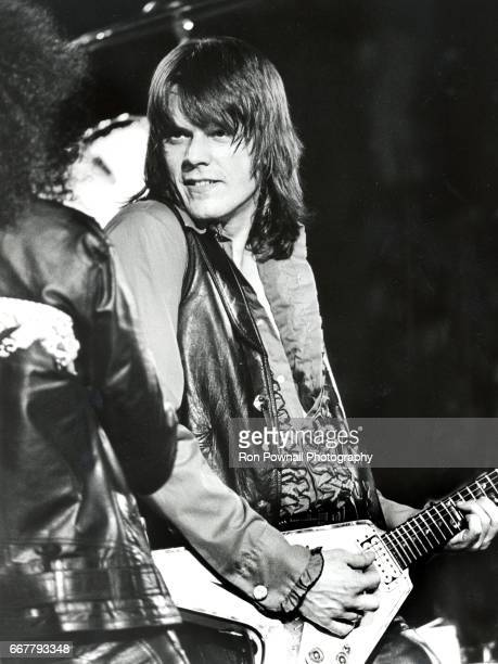 Geils of the JGeils Band perfoms at the Boston Garden on February 9 1979 in Boston Massachusetts