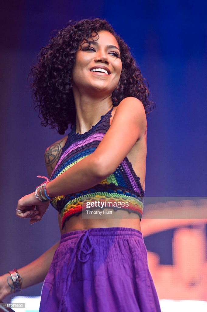 Jhen Aiko performs on Day 1 at the 2015 Bumbershoot Festival at Seattle Center on September 5 2015 in Seattle Washington