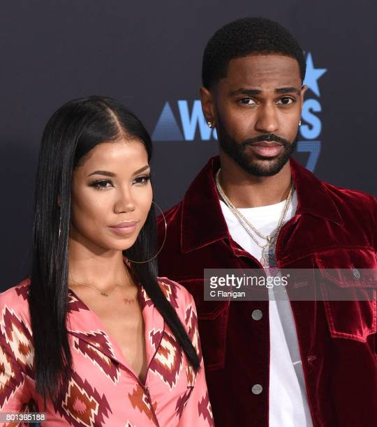 Jhene Aiko and Big Sean at the 2017 BET Awards at Microsoft Square on June 25 2017 in Los Angeles California