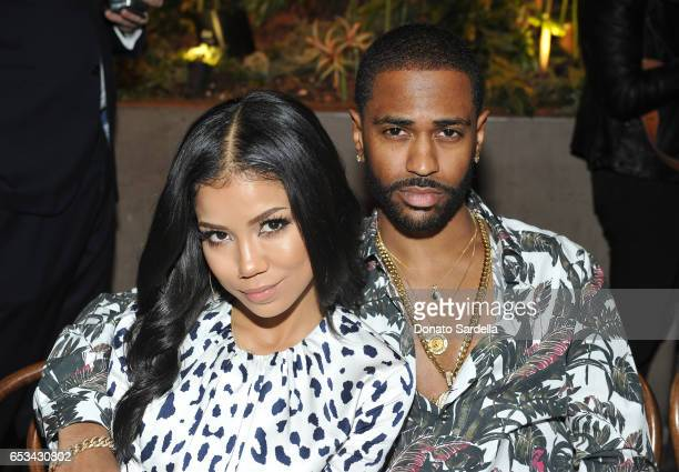 Jhene Aiko and Big Sean at the Power Stylists Dinner hosted by The Hollywood Reporter and Jimmy Choo on March 14 2017 in West Hollywood California