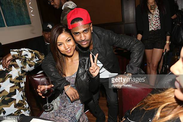Jhene Aiko and Big Sean attend Remy Martin V Celebrates Big Sean's 25th Birthday Dinner at Wolfgang's Steakhouse on March 25 2013 in Beverly Hills...