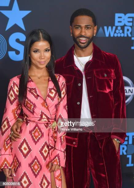 Jhene Aiko and Big Sean attend the 2017 BET Awards at Microsoft Theater on June 25 2017 in Los Angeles California