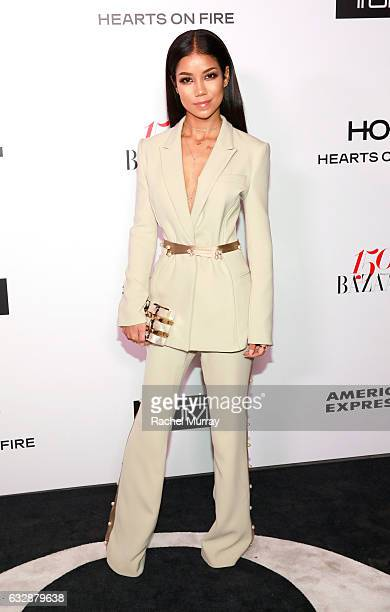 Jhene Aiko attends Harper's BAZAAR celebration of the 150 Most Fashionable Women presented by TUMI in partnership with American Express La Perla and...