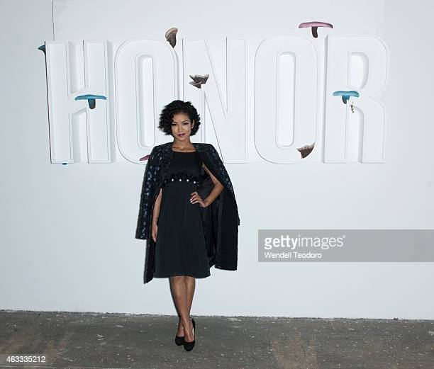 Jhene Aiko attends the Honor Show during MercedesBenz Fashion Week Fall 2015 at ArtBeam on February 12 2015 in New York City