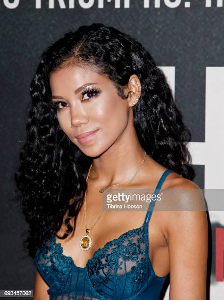 Jhene Aiko attends the premiere of Fathom Events 'Chris Brown Welcome To My Life' at Regal LA Live Stadium 14 on June 6 2017 in Los Angeles California