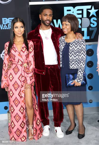 Jhene Aiko Big Sean and Myra Anderson at the 2017 BET Awards at Microsoft Square on June 25 2017 in Los Angeles California