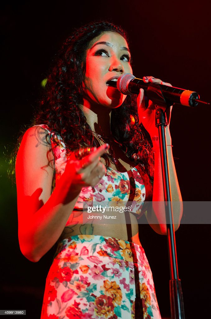 Jhene Aiko performs at Best Buy Theater on December 3 2014 in New York City