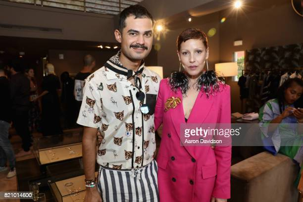 Jhon Santos and Angeles Almuna attend The Webster Celebrates The Launch Of M By Maor at The Webster on July 22 2017 in Miami Florida