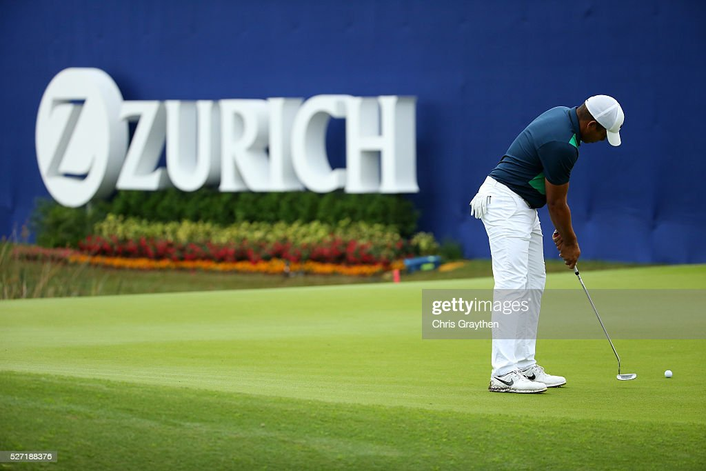 <a gi-track='captionPersonalityLinkClicked' href=/galleries/search?phrase=Jhonattan+Vegas&family=editorial&specificpeople=4466874 ng-click='$event.stopPropagation()'>Jhonattan Vegas</a> of Venezuela makes a putt on the 9th green during a continuation of the third round of the Zurich Classic at TPC Louisiana on May 2, 2016 in Avondale, Louisiana.