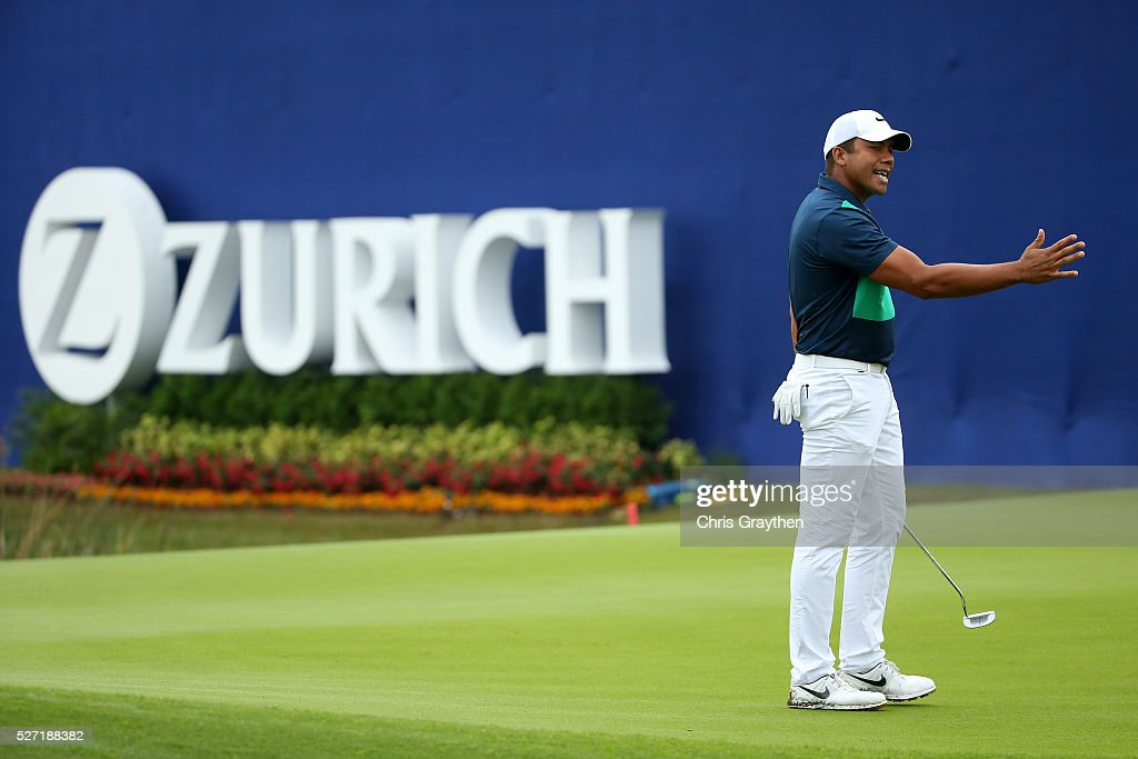 <a gi-track='captionPersonalityLinkClicked' href=/galleries/search?phrase=Jhonattan+Vegas&family=editorial&specificpeople=4466874 ng-click='$event.stopPropagation()'>Jhonattan Vegas</a> of Venezuela reacts after a missed putt on the 9th green during a continuation of the third round of the Zurich Classic at TPC Louisiana on May 2, 2016 in Avondale, Louisiana.