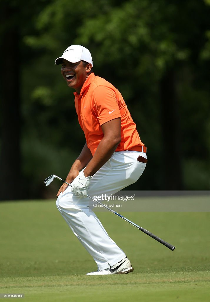 <a gi-track='captionPersonalityLinkClicked' href=/galleries/search?phrase=Jhonattan+Vegas&family=editorial&specificpeople=4466874 ng-click='$event.stopPropagation()'>Jhonattan Vegas</a> of Venezuela reacts to his missed putt on the first hole during the second round of the Zurich Classic of New Orleans at TPC Louisiana on April 29, 2016 in Avondale, Louisiana.