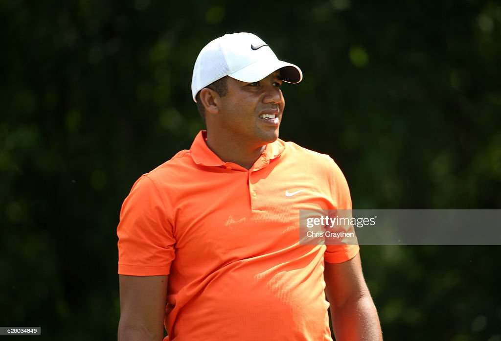 <a gi-track='captionPersonalityLinkClicked' href=/galleries/search?phrase=Jhonattan+Vegas&family=editorial&specificpeople=4466874 ng-click='$event.stopPropagation()'>Jhonattan Vegas</a> of Venezuela reacts to his tee shot on the 16th hole during a continuation of the first round of the Zurich Classic of New Orleans at TPC Louisiana on April 29, 2016 in Avondale, Louisiana.