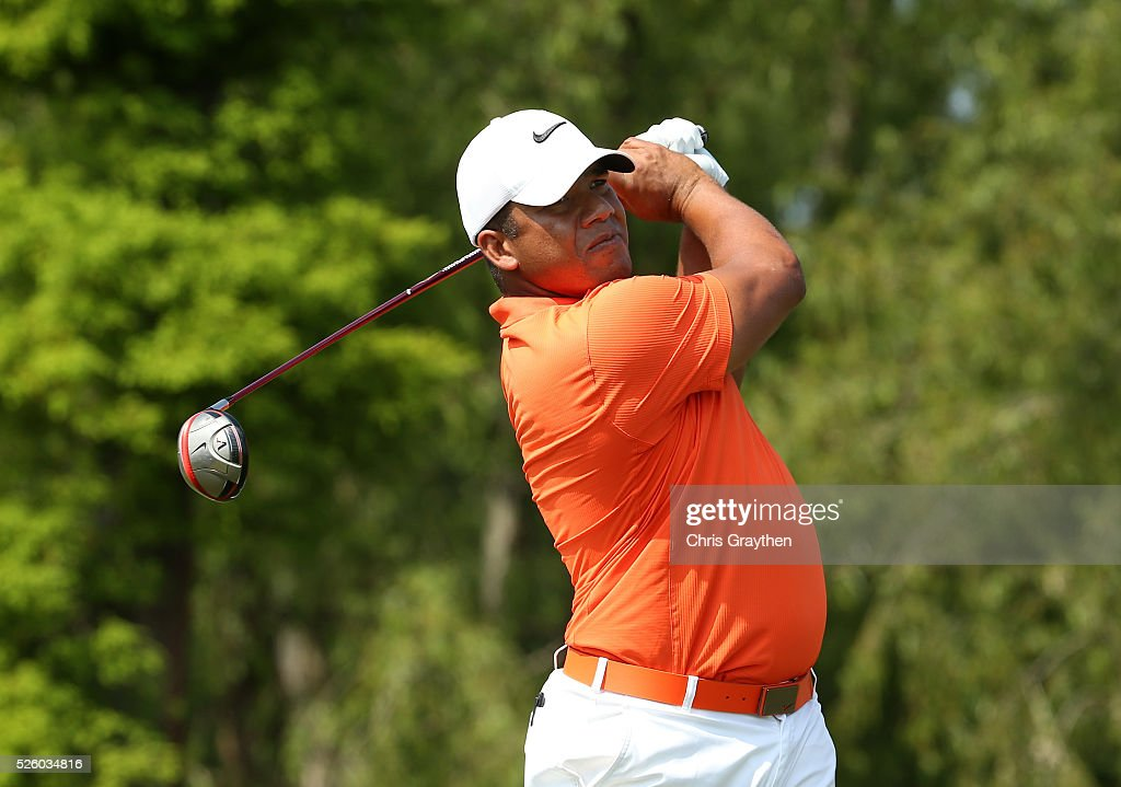 <a gi-track='captionPersonalityLinkClicked' href=/galleries/search?phrase=Jhonattan+Vegas&family=editorial&specificpeople=4466874 ng-click='$event.stopPropagation()'>Jhonattan Vegas</a> of Venezuela tees off on the 15th hole during a continuation of the first round of the Zurich Classic of New Orleans at TPC Louisiana on April 29, 2016 in Avondale, Louisiana.