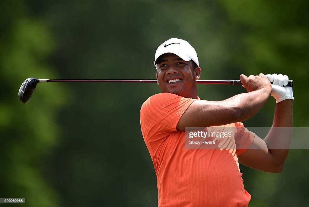 <a gi-track='captionPersonalityLinkClicked' href=/galleries/search?phrase=Jhonattan+Vegas&family=editorial&specificpeople=4466874 ng-click='$event.stopPropagation()'>Jhonattan Vegas</a> of Venezuela tees off on the 15th hole during the second round of the Zurich Classic of New Orleans at TPC Louisiana on April 29, 2016 in Avondale, Louisiana.