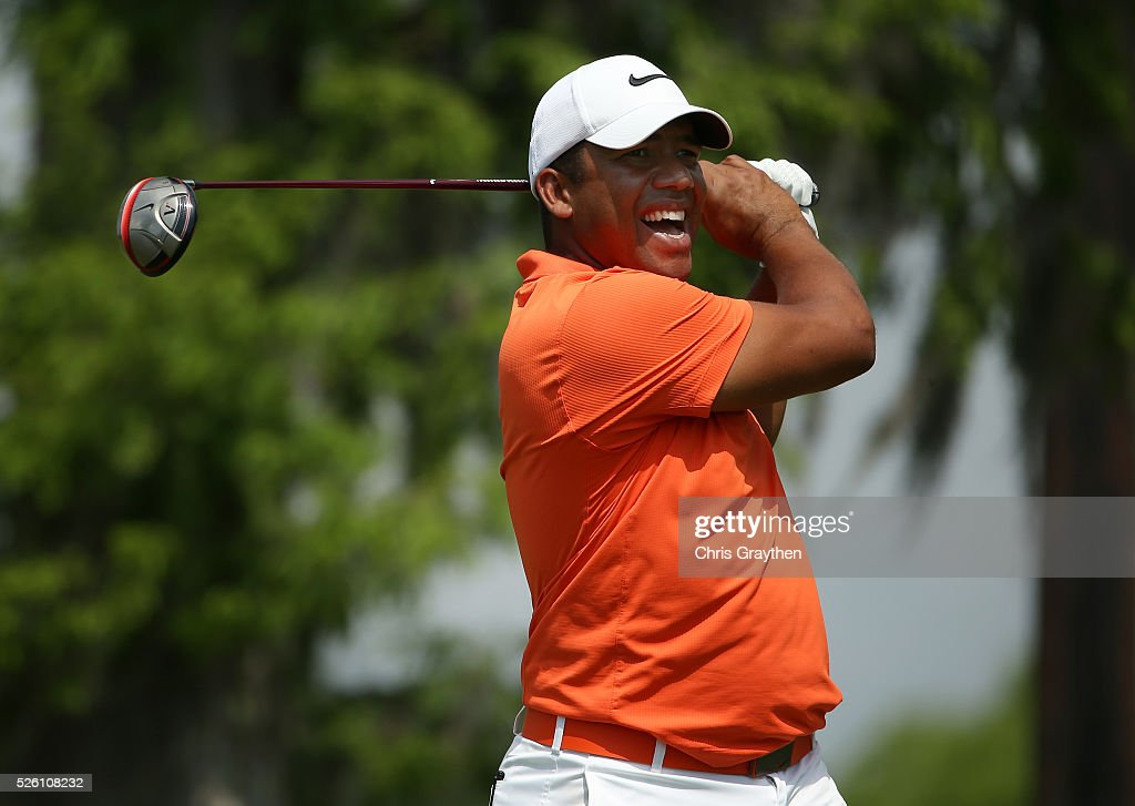<a gi-track='captionPersonalityLinkClicked' href=/galleries/search?phrase=Jhonattan+Vegas&family=editorial&specificpeople=4466874 ng-click='$event.stopPropagation()'>Jhonattan Vegas</a> of Venezuela tees off on the second hole during the second round of the Zurich Classic of New Orleans at TPC Louisiana on April 29, 2016 in Avondale, Louisiana.