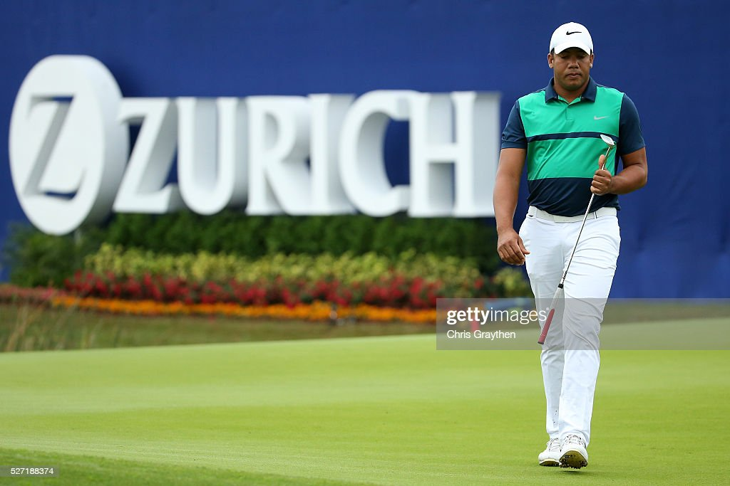 <a gi-track='captionPersonalityLinkClicked' href=/galleries/search?phrase=Jhonattan+Vegas&family=editorial&specificpeople=4466874 ng-click='$event.stopPropagation()'>Jhonattan Vegas</a> of Venezuela walks on the 9th green during a continuation of the third round of the Zurich Classic at TPC Louisiana on May 2, 2016 in Avondale, Louisiana.