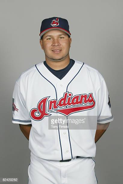 Jhonny Peralta of the Cleveland Indians poses for a portrait during photo day at Chain of Lakes Park on March 1 2005 in Winter Haven Florida