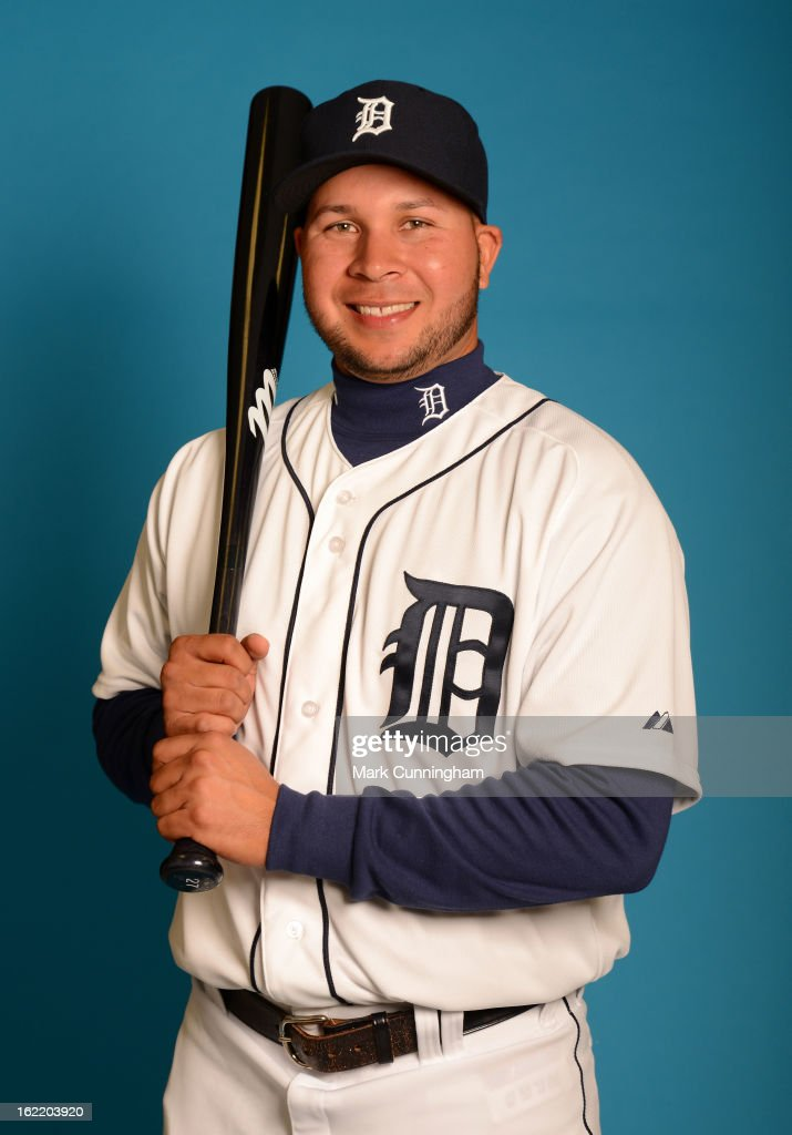 Jhonny Peralta #27 of the Detroit Tigers poses for a portrait during MLB photo day at TigerTown on February 19, 2013 in Lakeland, Florida.