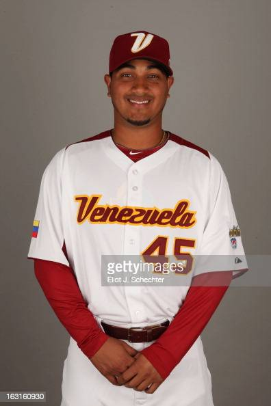 Jhoulys Chacin of Team Venezuela poses for a headshot for the 2013 World Baseball Classic at Roger Dean Stadium on Monday March 4 2013 in Jupiter...
