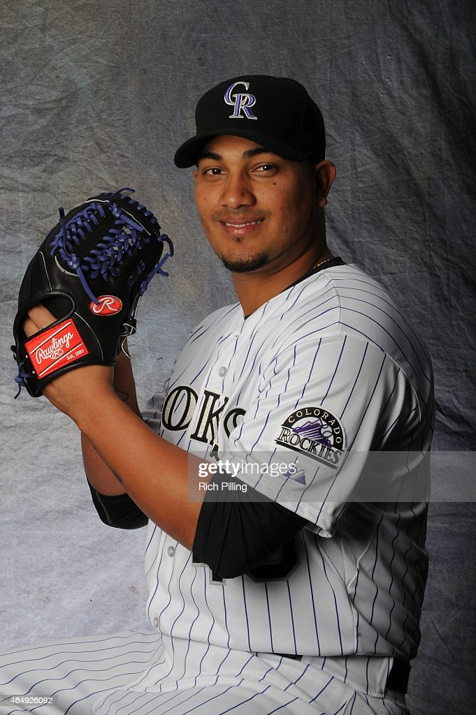 Jhoulys Chacin of the Colorado Rockies poses for a portrait during Photo Day on March 1 2015 at Salt River Fields at Talking Stick in Scottsdale...