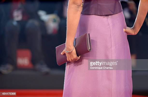 Jhumpa Lahiri attends the 'Il Giovane Favoloso' premiere during the 71st Venice Film Festival at Sala Grande on September 1 2014 in Venice Italy