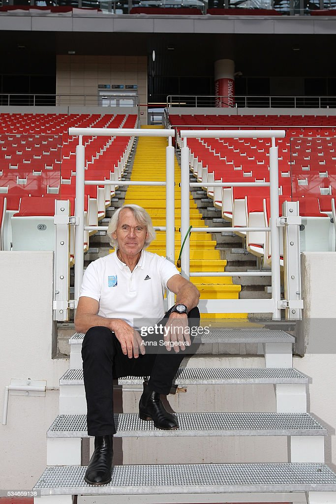 JiÞ DvoÞk poses at the stadium after the FIFA and LOC football emergency medicine workshop at Spartak Stadium on May 27, 2016 in Moscow, Russia.