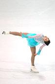 Ji Hyun Byun of Korea skates during the junior ladies short dance of the ISU Junior Grand Prix at Dom Sportova on October 8 2015 in Zagreb Croatia