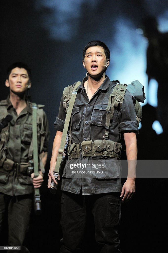 Ji Hyun-Woo performs during the musical 'The Promise' press call at the National Theater of Korea Main Hall 'Hae' on January 8, 2013 in Seoul, South Korea.