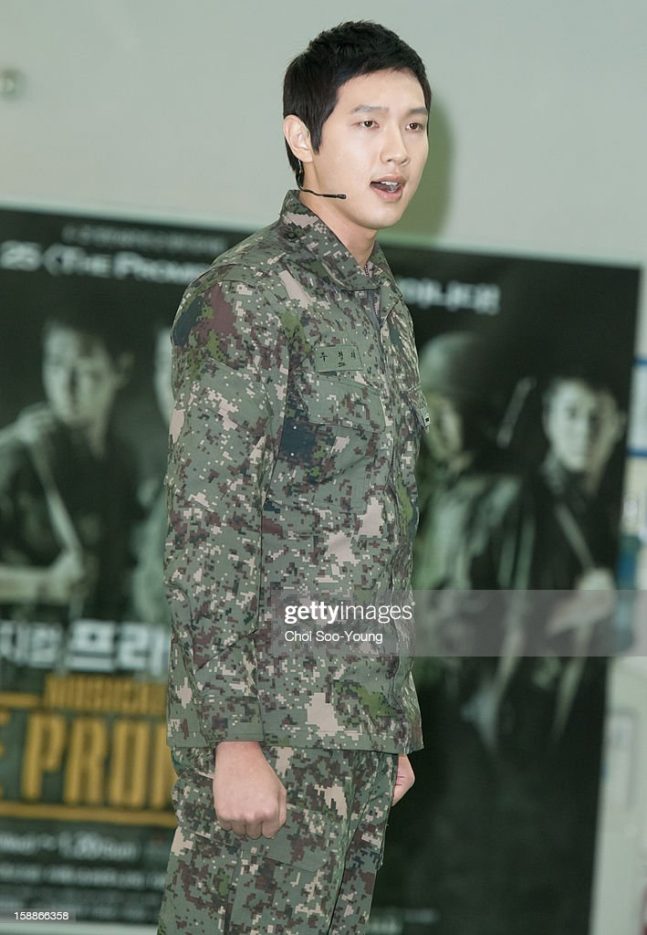 Ji Hyun-Woo performs during the musical 'The Promise' rehearsal at Wooriarthall on December 27, 2012 in Seoul, South Korea.