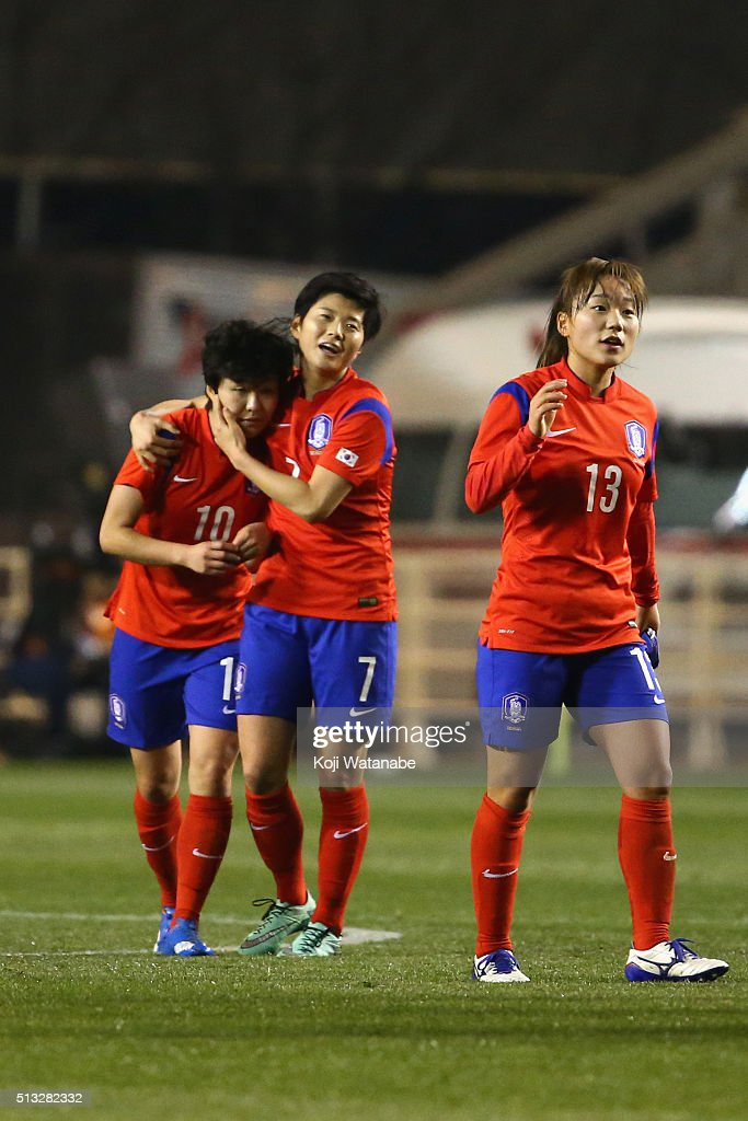 Japan v South Korea - AFC Women's Olympic Final Qualification Round