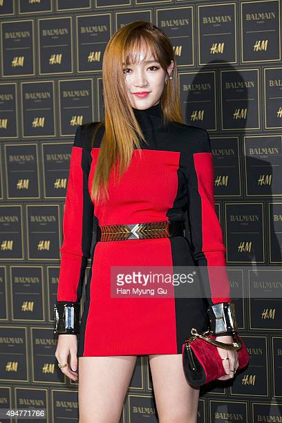 Jia of girl group Miss A attends the BALMAIN x HM Preview Party at Club The A on October 28 2015 in Seoul South Korea